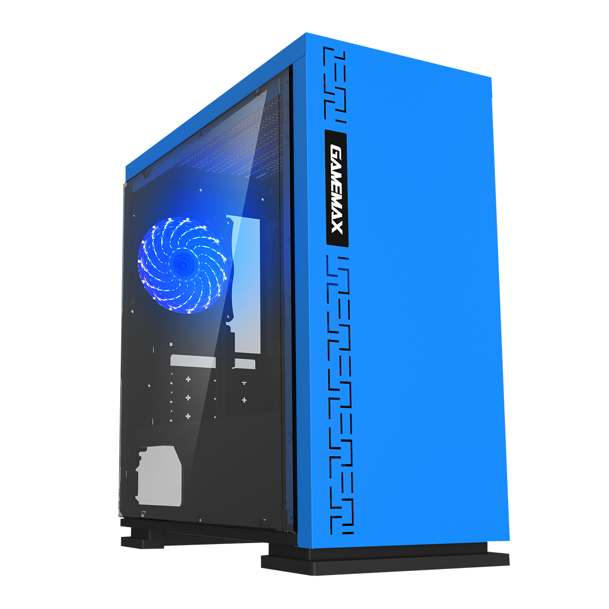 Game Max Expedition Microatx Blue Gaming Case Gaming Computer