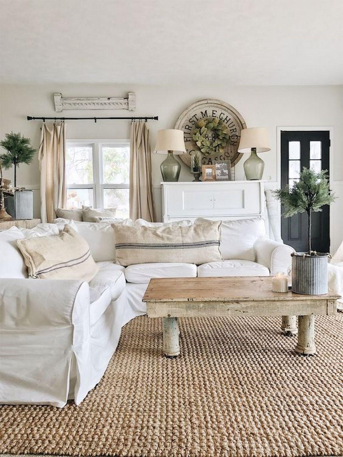 Adorable 30 Stunning Farmhouse Living Room Decor Ideas H