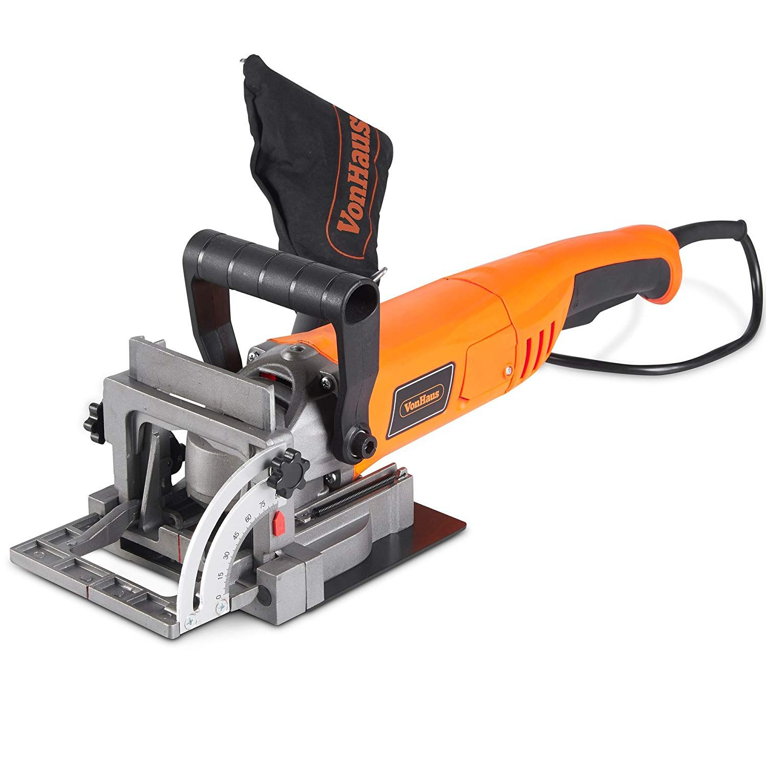 Vonhaus 8 5 Amp Wood Biscuit Plate Joiner With 4 Tungsten Carbide Tipped Blade Adjustable Angle And Dust Bag Suitable For All Wood T Wood Biscuits Biscuit Joiner Types Of Wood