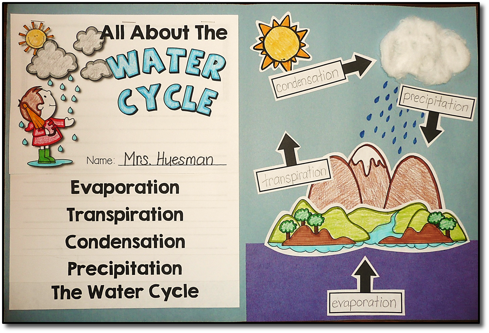 Water Cycle Flip Book Craftivity And Labeling Project