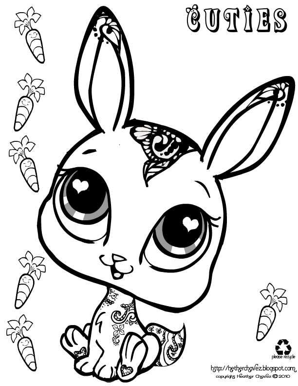cuties rabbit coloring sheetsrabbitbunny