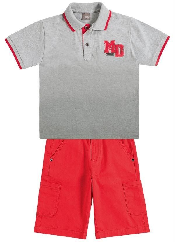 0b9995dedaa Conjunto Polo e Bermuda Cargo Brandili Mundi. Encontre este Pin e muitos  outros na pasta roupa masculina infantil ...