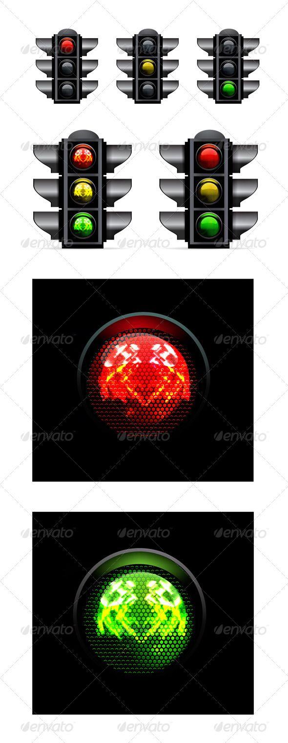Traffic Lights Vector Illustration Traffic Light Rustic Light Fixtures Street Light