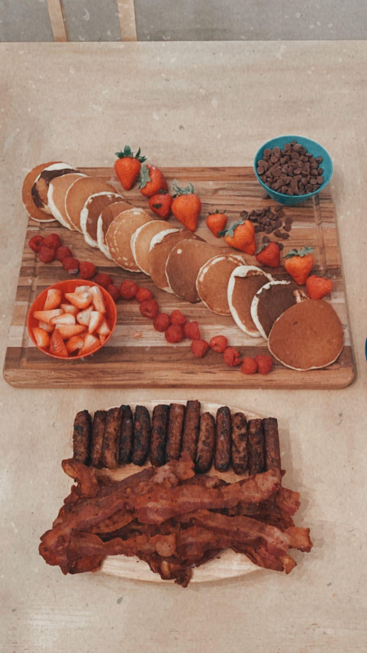 Breakfast food platter