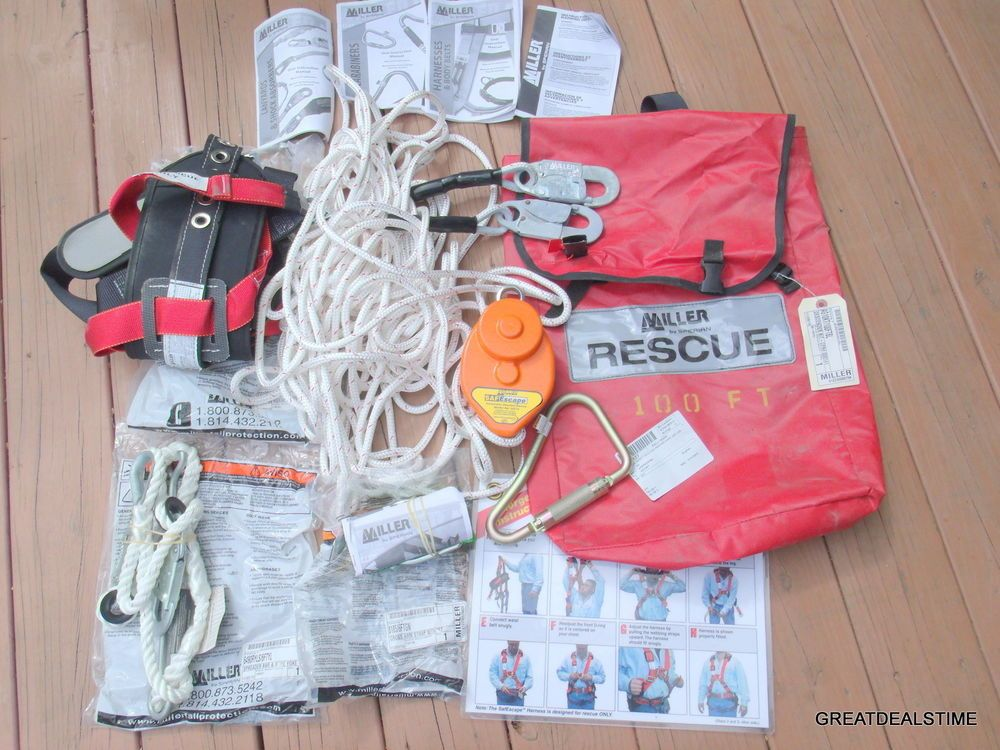 MILLER,SPERIAN,SAFESCAPE AUTOMATIC DESCENT DEVICE,RESCUE SYSTEM,HARNESS,KIT PACK #MILLERSPERIAN