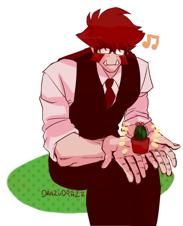 Klaus And A Baby Cactus By Twilightanimal Klaus Baby Cactus Awesome Anime