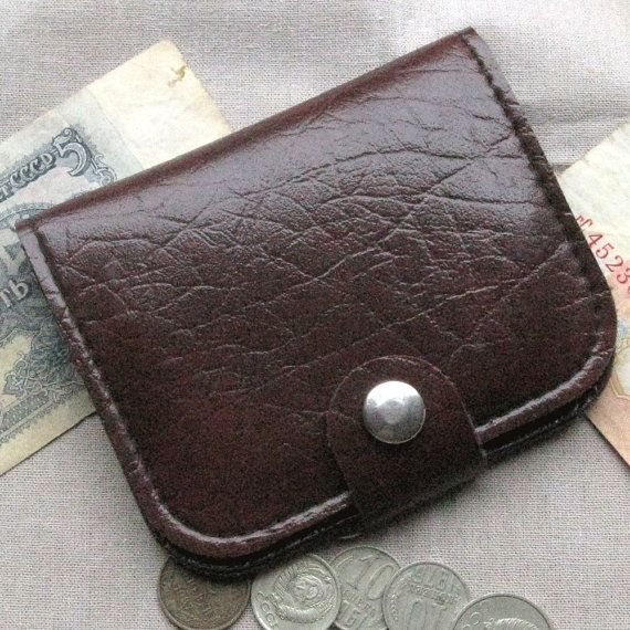 Soviet Wallet, Vintage Coin Purse, Retro Accessory, Retro Leather Purse, Unique Womens Wallet, Unique Gift for Her, 80s Style, Women Wallet