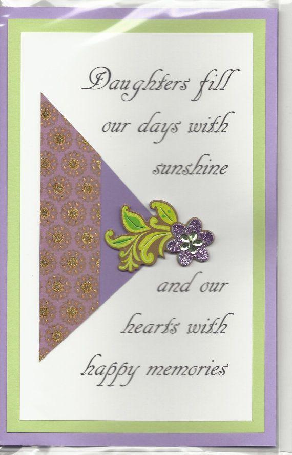Handmade Greeting Card Birthday Daughter By Joniquecards 5 00