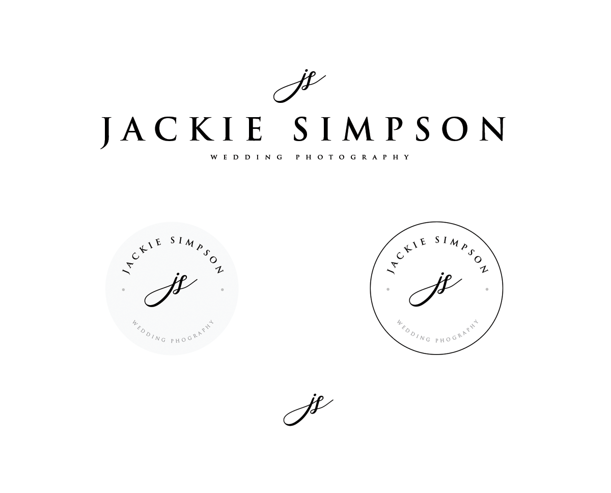 Instant Download Simple Logo, Wedding Photography Logo