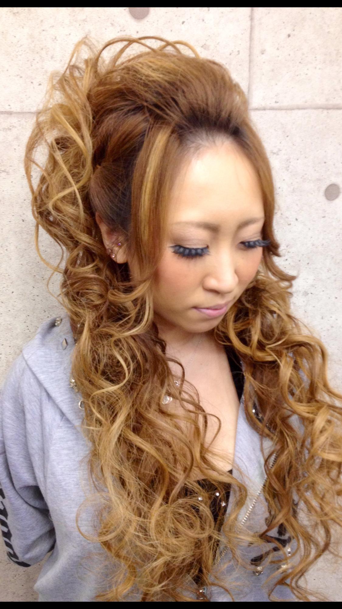派手髪やスジ盛りが得意 京都 祇園 Kyoto 盛り 髪 ヘアセット ロング ショート ヘアアレンジ