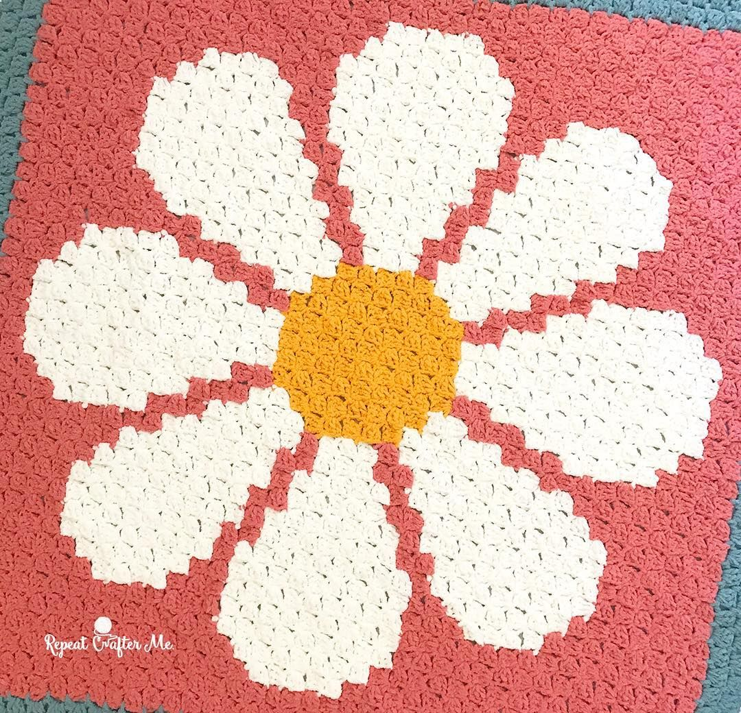 "Sarah Zimmerman (@repeatcrafterme) on Instagram: ""Yay! The Daisy C2C ..."
