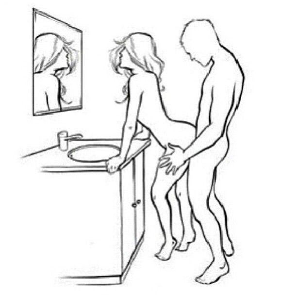bathroom in Sex positions