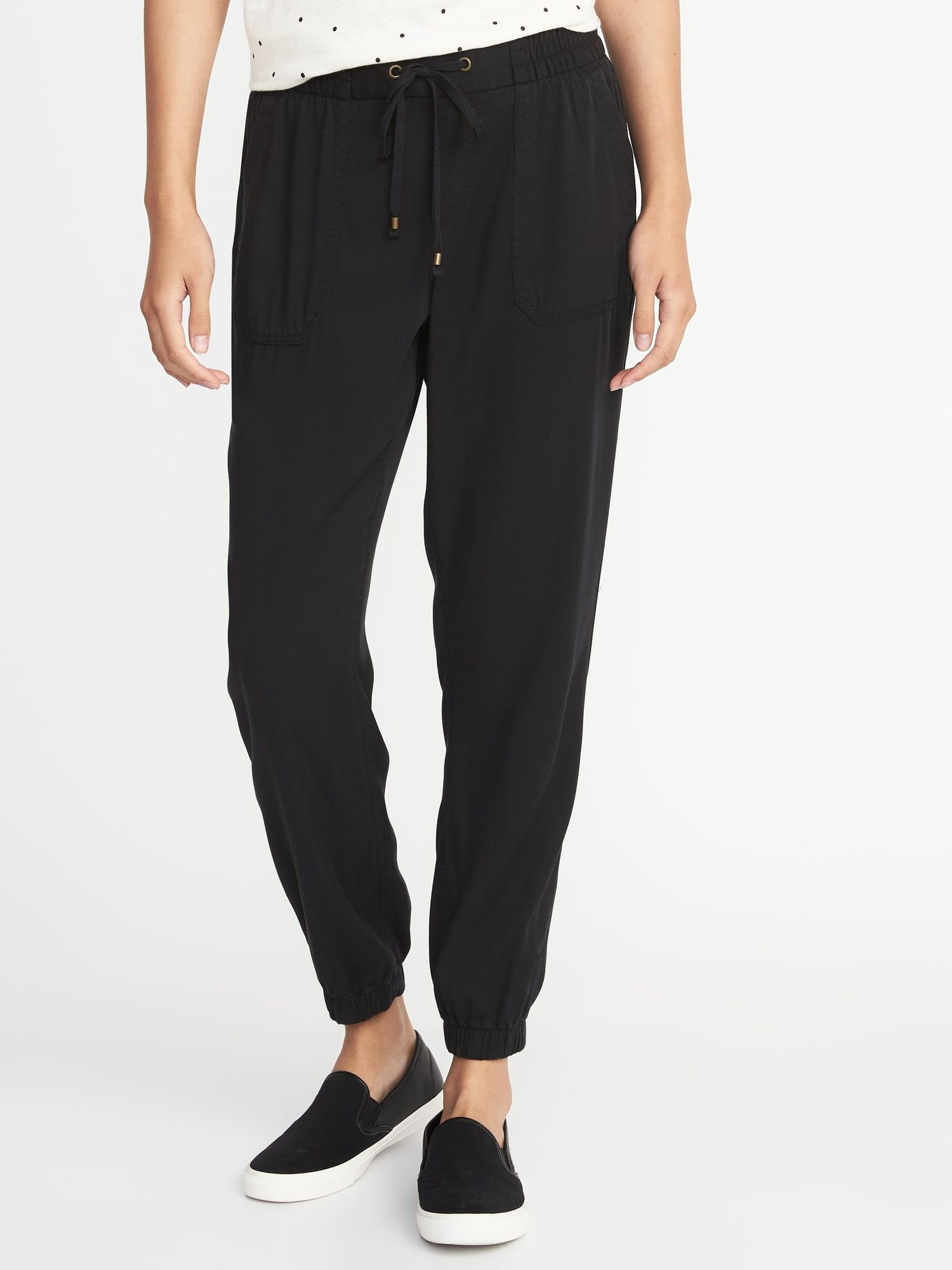 815c95aac7 Mid-Rise Soft Twill Utility Joggers for Women | Old Navy | Fashion ...