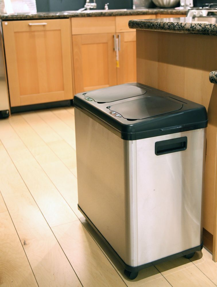 stainless steel kitchen trash can home depot