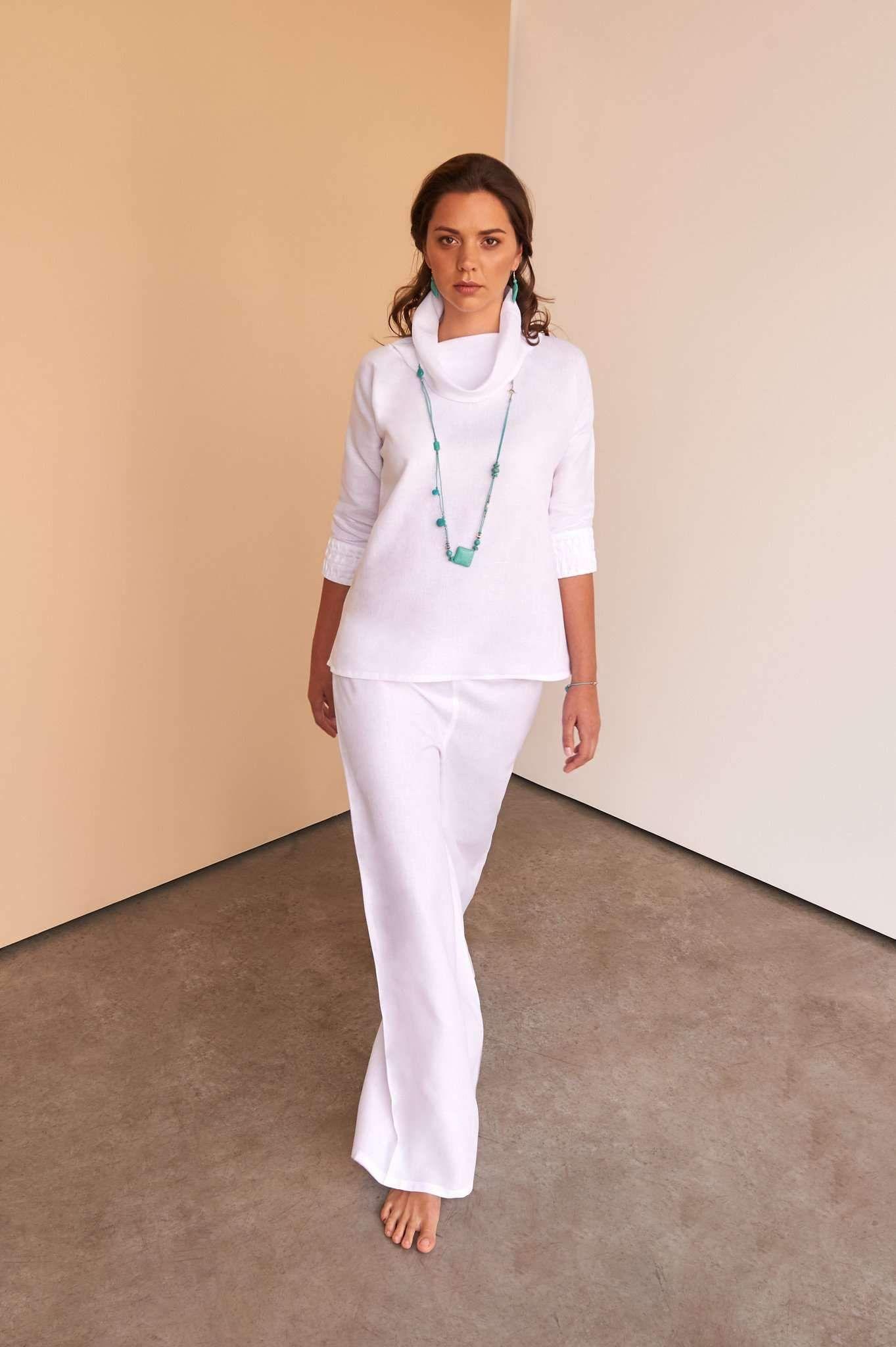 Amalya pants with images fashion white linen pants