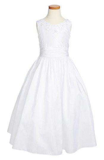 Lauren Marie Sleeveless Communion Dress (Little Girls & Big Girls) available at #Nordstrom