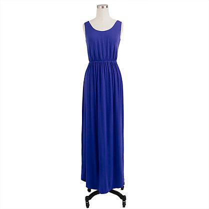 Great color maxi dress. J.Crew $49.99