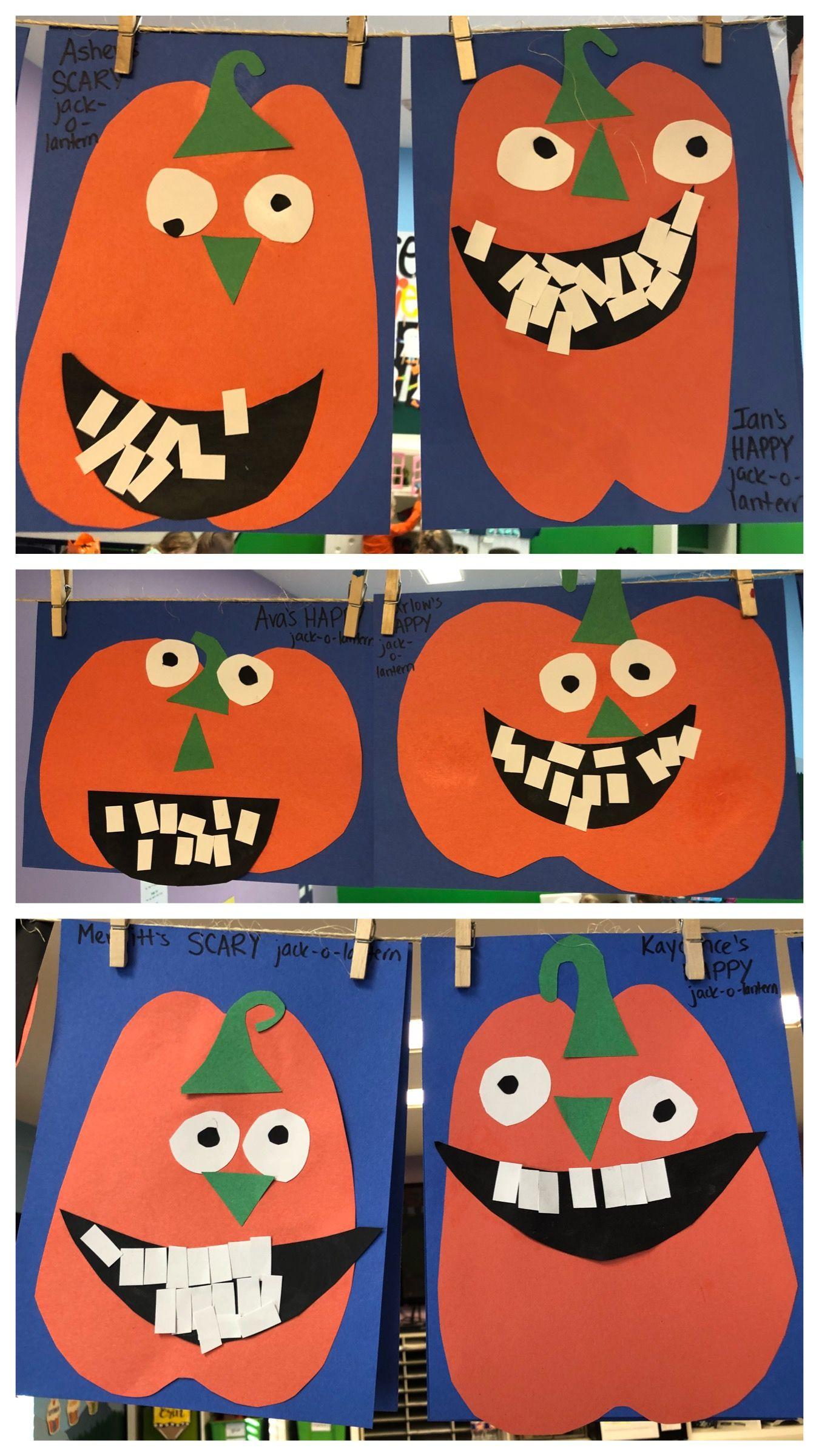 Preschool Pumpkin Unit Silly Face Pumpkins Pumpkin