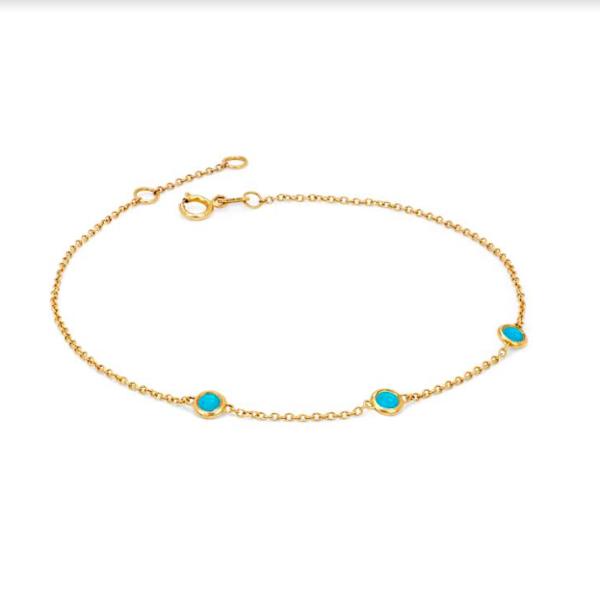 💚NEW! 3 Turquoise Orbit Bezel Bracelet – Logan Hollowell Jewelry