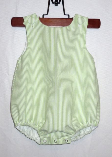 Baby Bubble Romper Seersucker Monogram Embroidery Blank Wholesale
