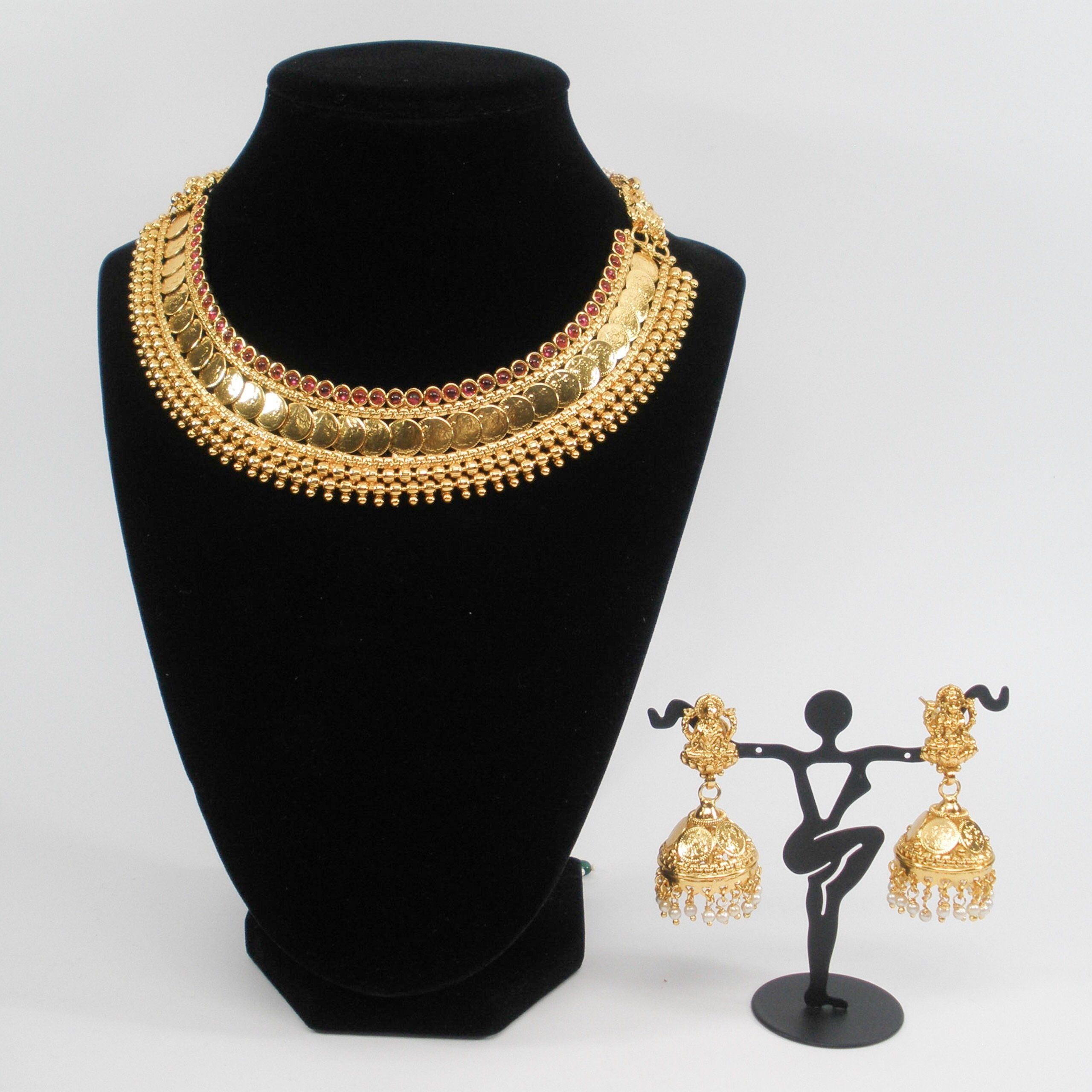 Grand lakshmi coin necklace set products pinterest coins and