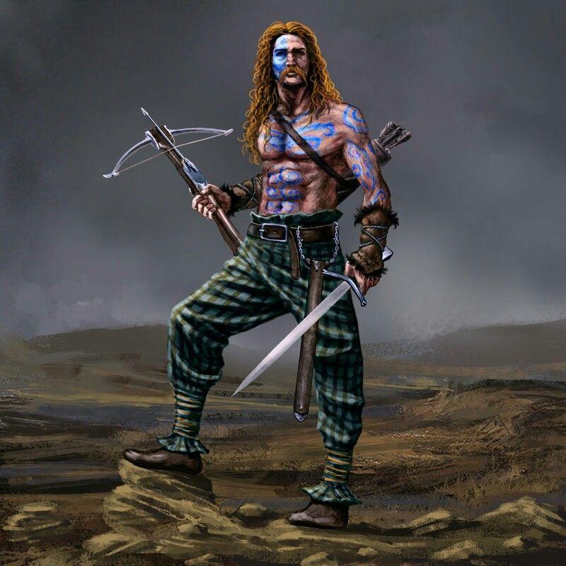 Scottish Warrior Tattoos: ANCIENT SCOTTISH ( PICTS /CELTIC) STYLE WARRIOR :