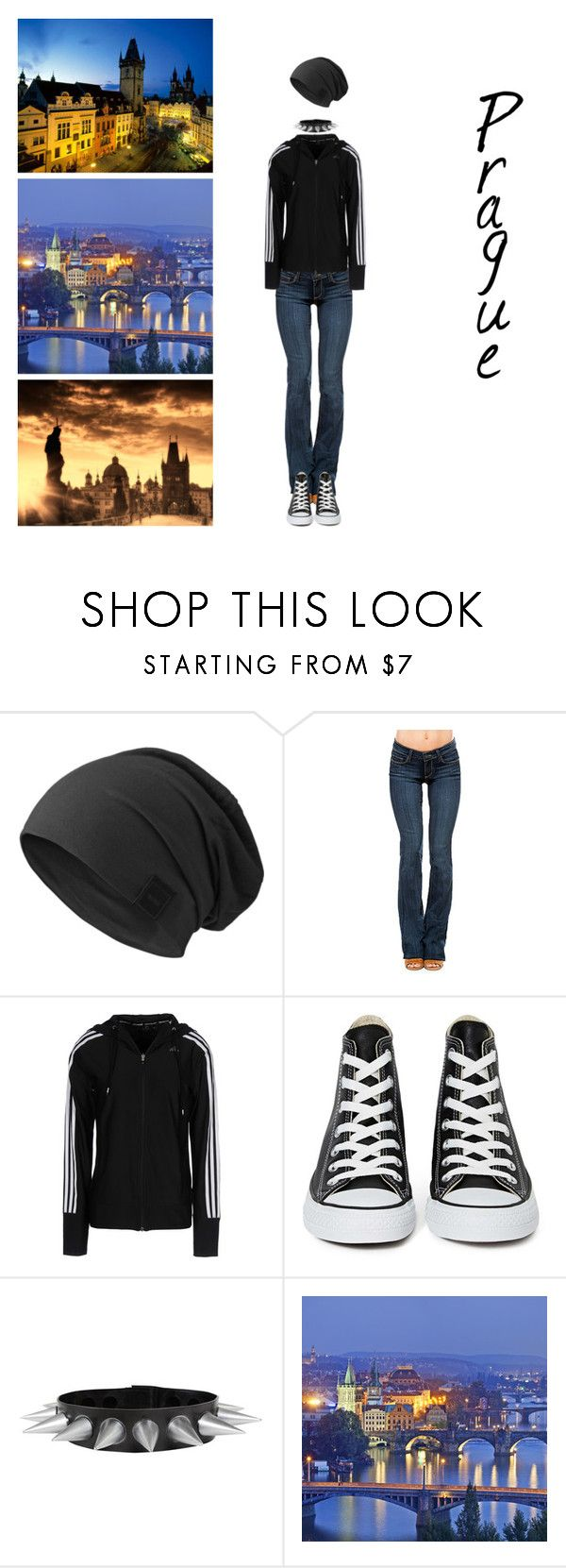 """""""Pretty in Prague"""" by x666x999x ❤ liked on Polyvore featuring Paige Denim, adidas, Converse, women's clothing, women's fashion, women, female, woman, misses and juniors"""