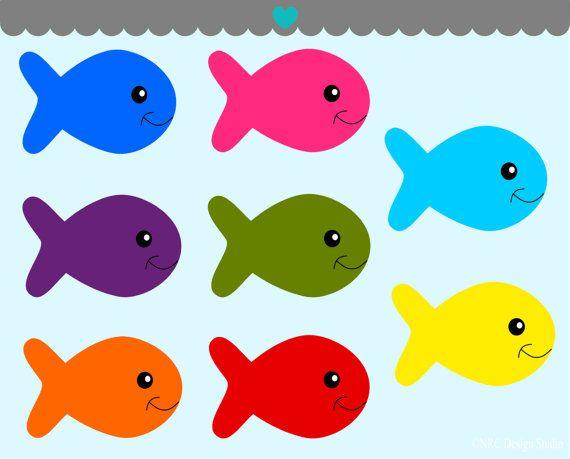 Fish printable. Colorful clip art clipart