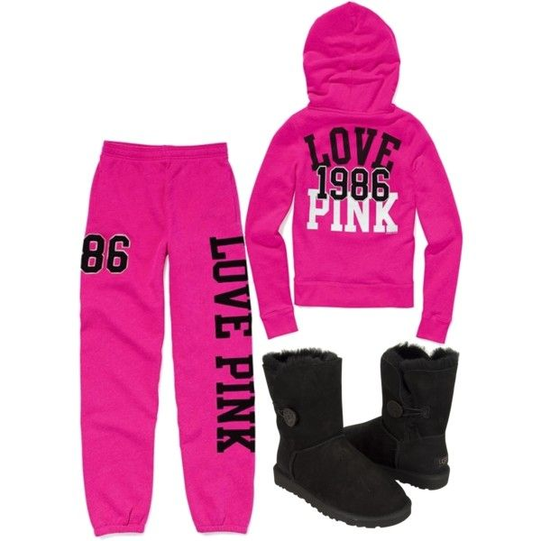 Pink sweatsuit with the UGGS | You fancy huh! | Pinterest | Uggs ...