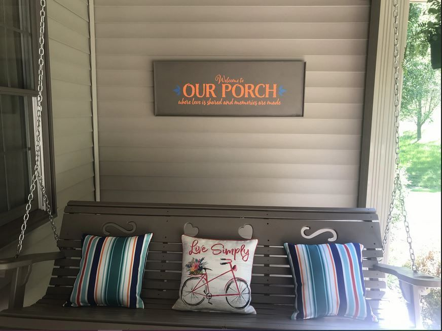 Farmhouse Wall Decal Welcome To Porch Love Shared Memories Decor Sticker Farmhouse Wall Decals Wall Decals Patio Wall