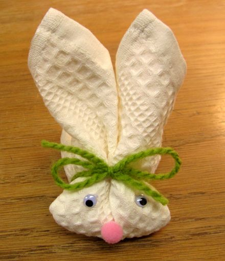 DIY Washcloth Bunny for Easter Baskets