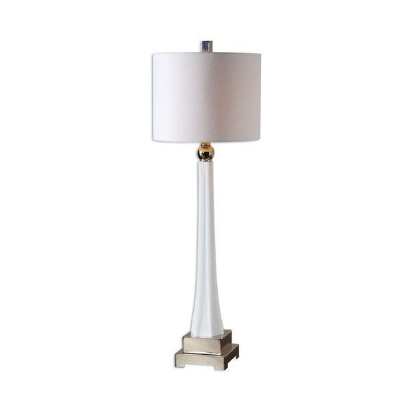 Uttermost Boretto Ribbed Glass One Light Buffet Lamp ($218) ❤ Liked On  Polyvore
