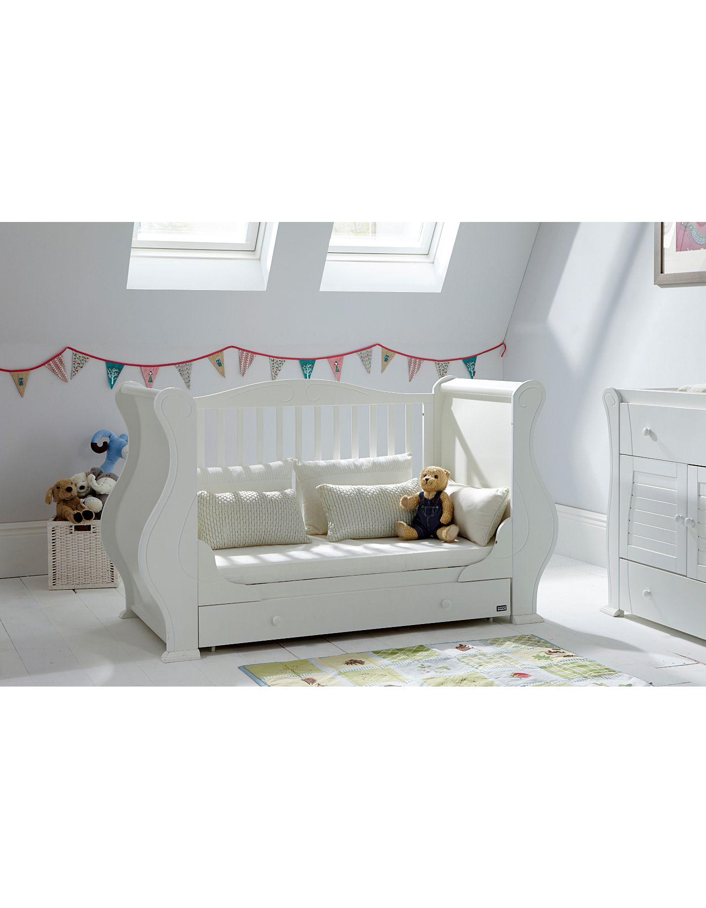 Tutti Bambini Marie Convertible Cot Bed  White - Nursery