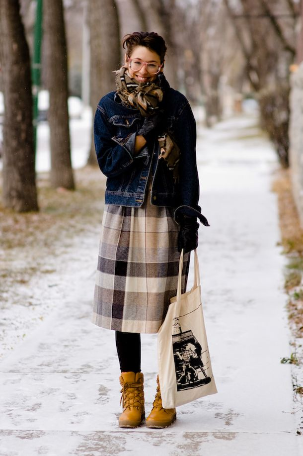 Canadian winter street fashion... LAYERS. (Just like ...