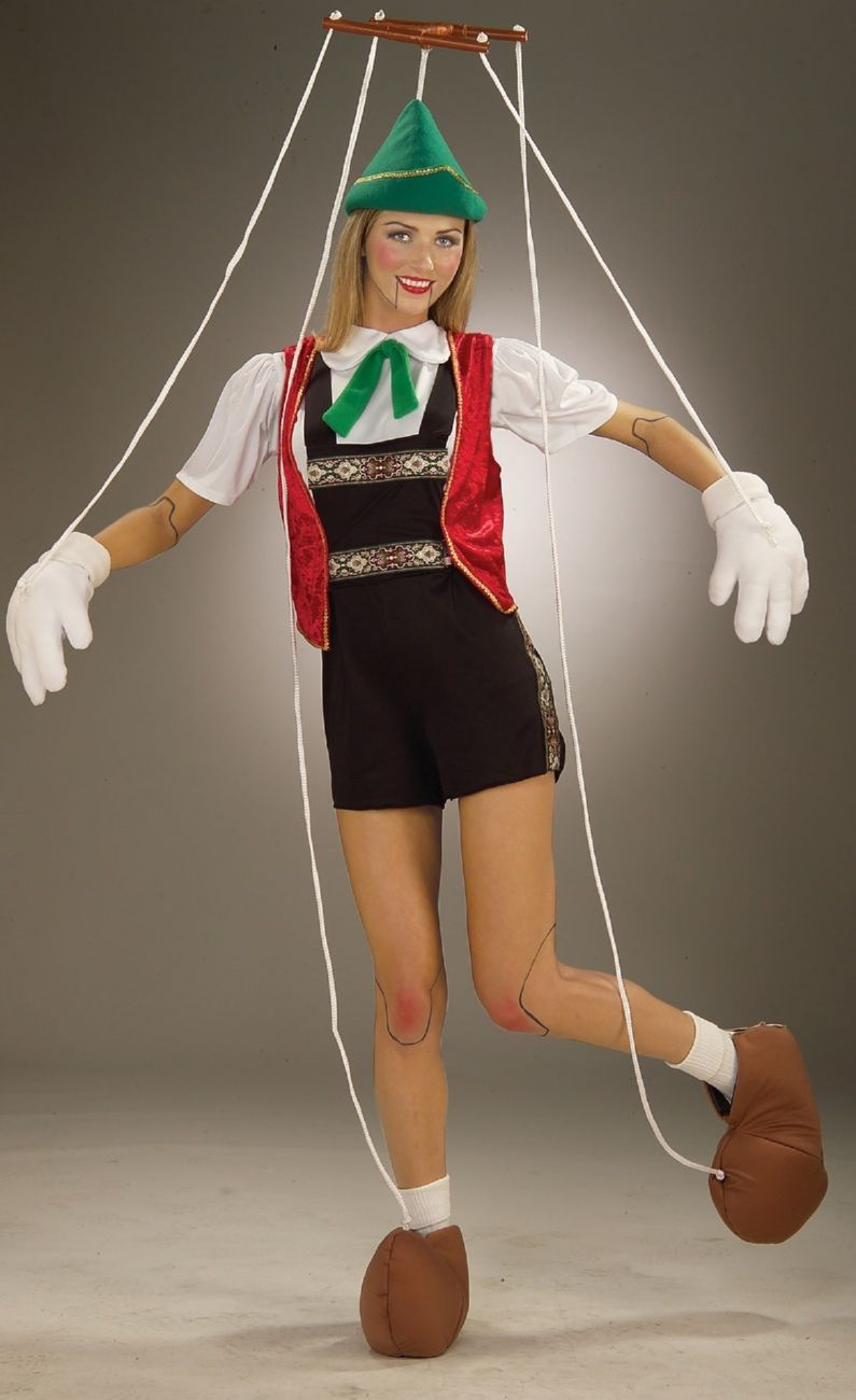 adult pinocchio puppet costume this would be easy enough to duplicate boo halloweenieries. Black Bedroom Furniture Sets. Home Design Ideas