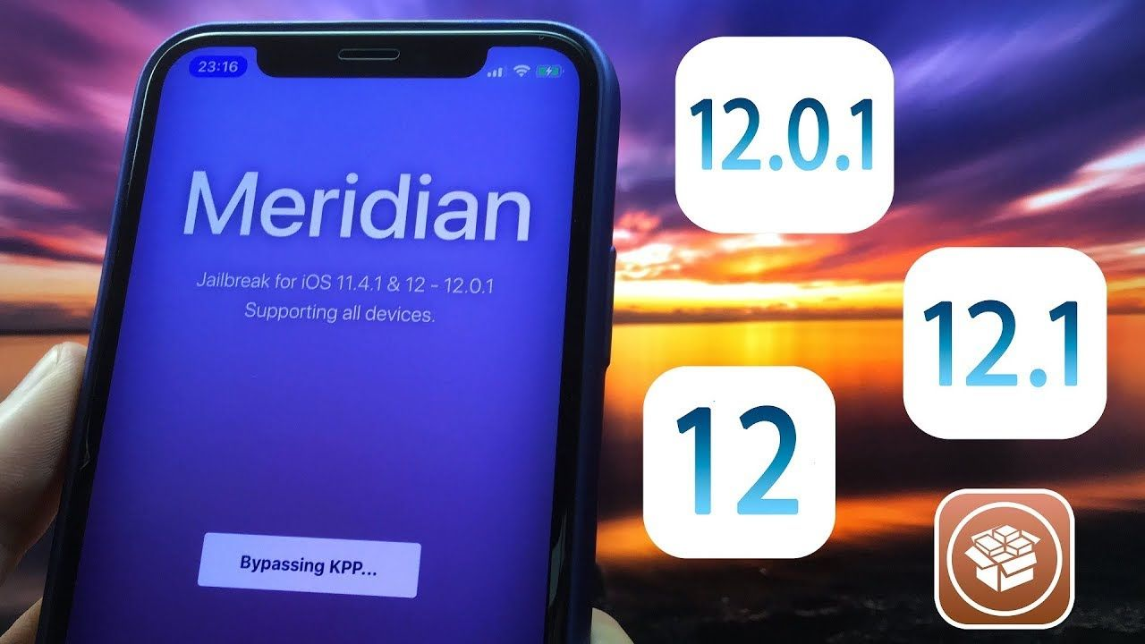 New Meridian 12 Jailbreak iOS 12.0.1 12.1 b3 11.4.1