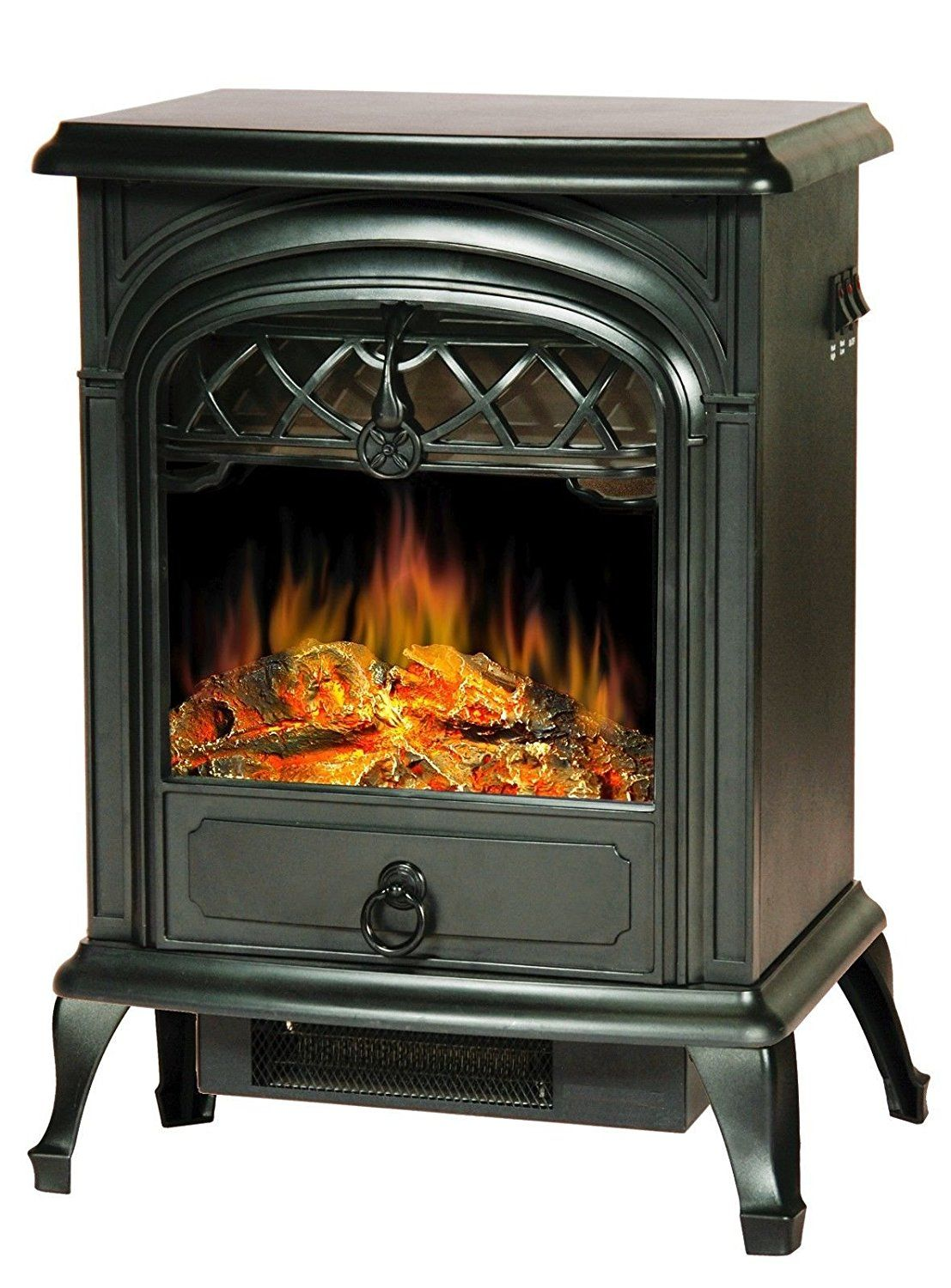 Clevr Free Standing Portable 1500w Electric Fireplace Heater Up To