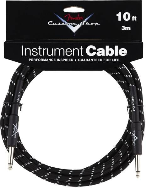 Custom Shop Instrument Cable, Black Tweed - 10 ft | Buy me