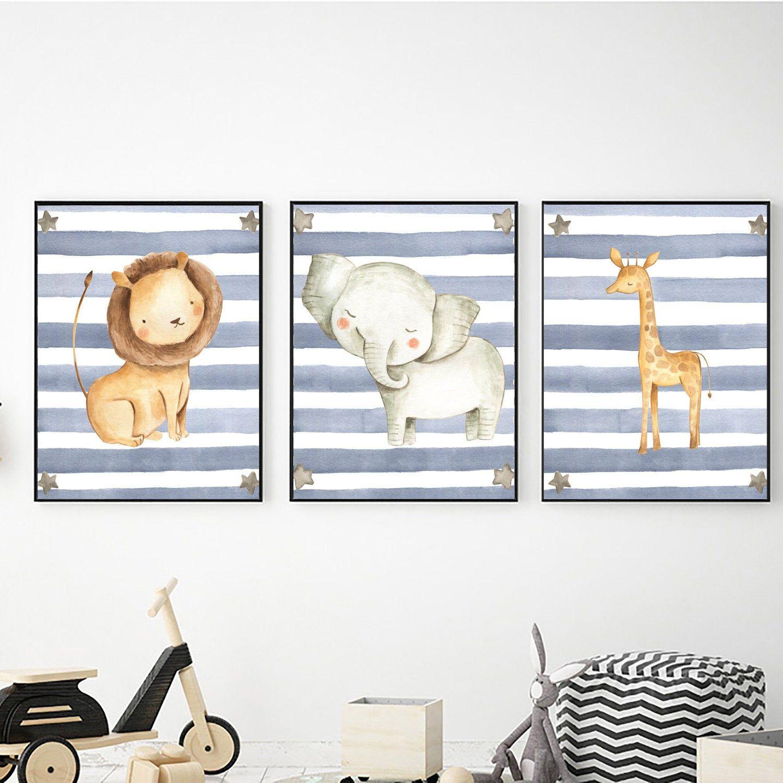 Set Of 3 Safari Animals Prints Digital Download Baby Animals Etsy Safari Wall Art Baby Animal Art Safari Animal Prints