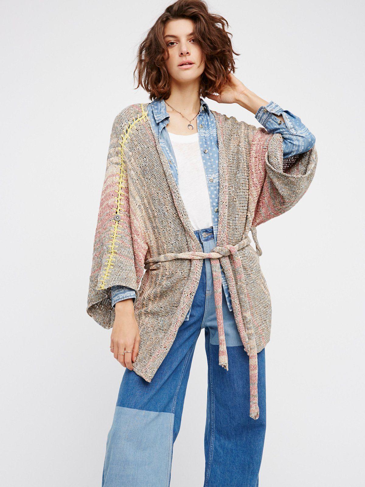 Sand Art Kimono | Drape this beautiful knit kimono over any outfit ...
