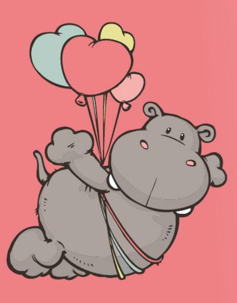 Nici nici hippopotame animaux y coloriage - Dessin d hippopotame ...