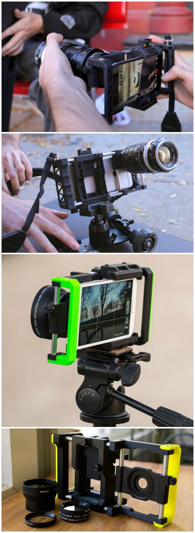 The Beastgrip Pro is a versatile. universal. and fully-adjustable smartphone lens adapter and camera rig sys… | Smartphone photography ...
