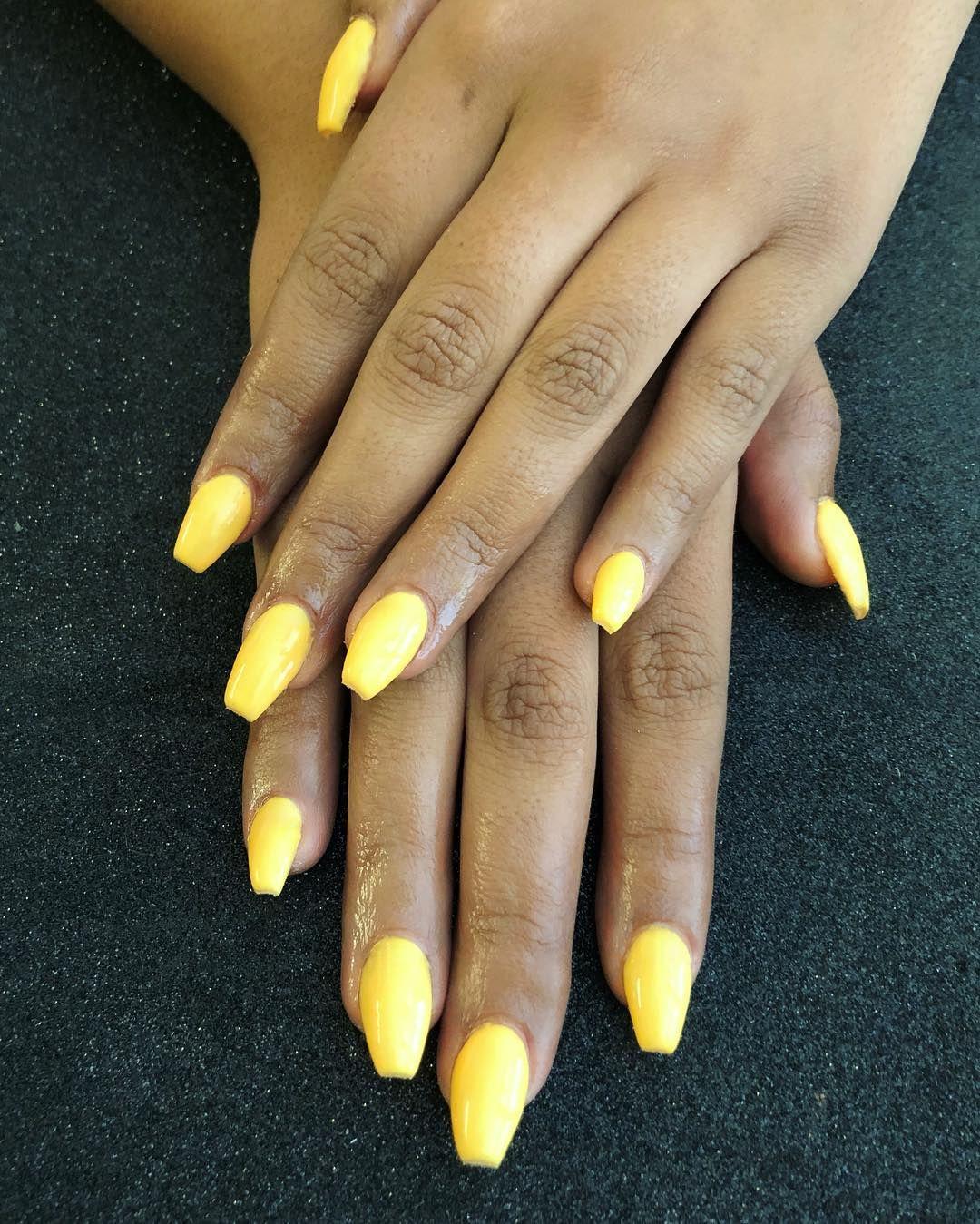 Sunflower Yellow Nails Bright Summer Nails Summer Nails Nail Designs Summer