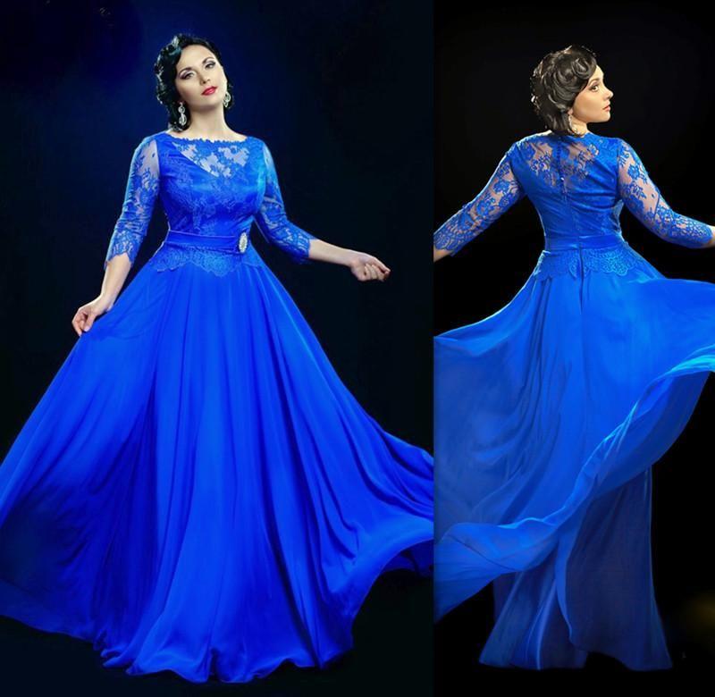 2017 satin a line wedding dresses appliqued lace with long for Royal blue plus size wedding dresses