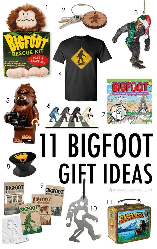 11 Fun Bigfoot Gift Ideas for the Sasquatch Fan | 2paws Designs