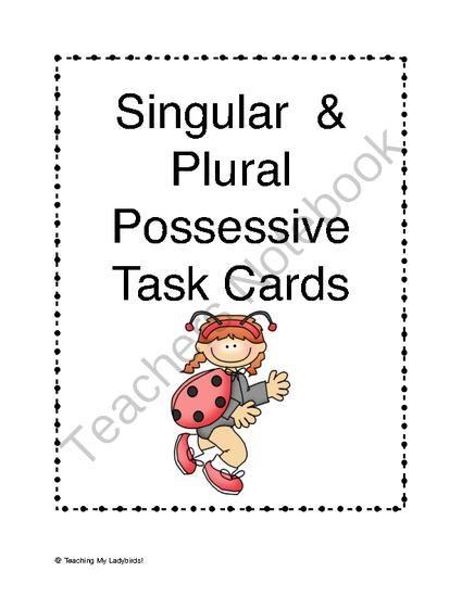 Singular and Plural Possessive Noun Task Cards from