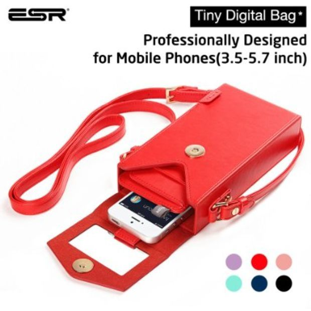 e8274c4f02f6 iPhone 6 Case, ESR? Tiny Digtal Bag with Removabal Shoulder Strap ...