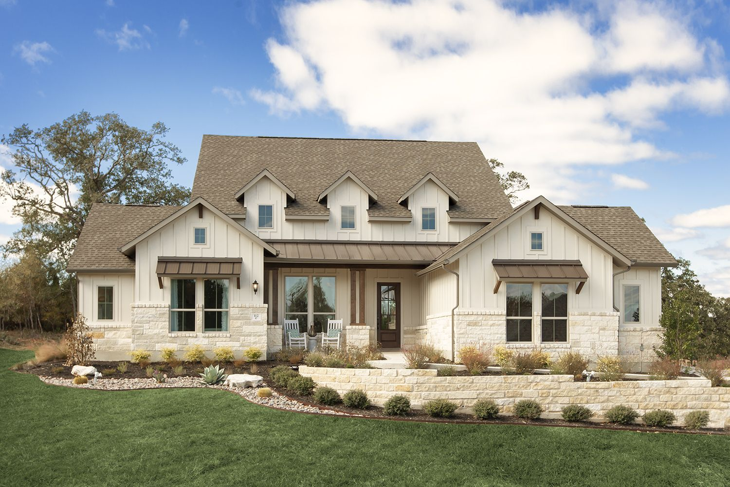 Hill Country Inspired Exterior Elevation In 2020 Coventry Homes New Home Builders Home Builders