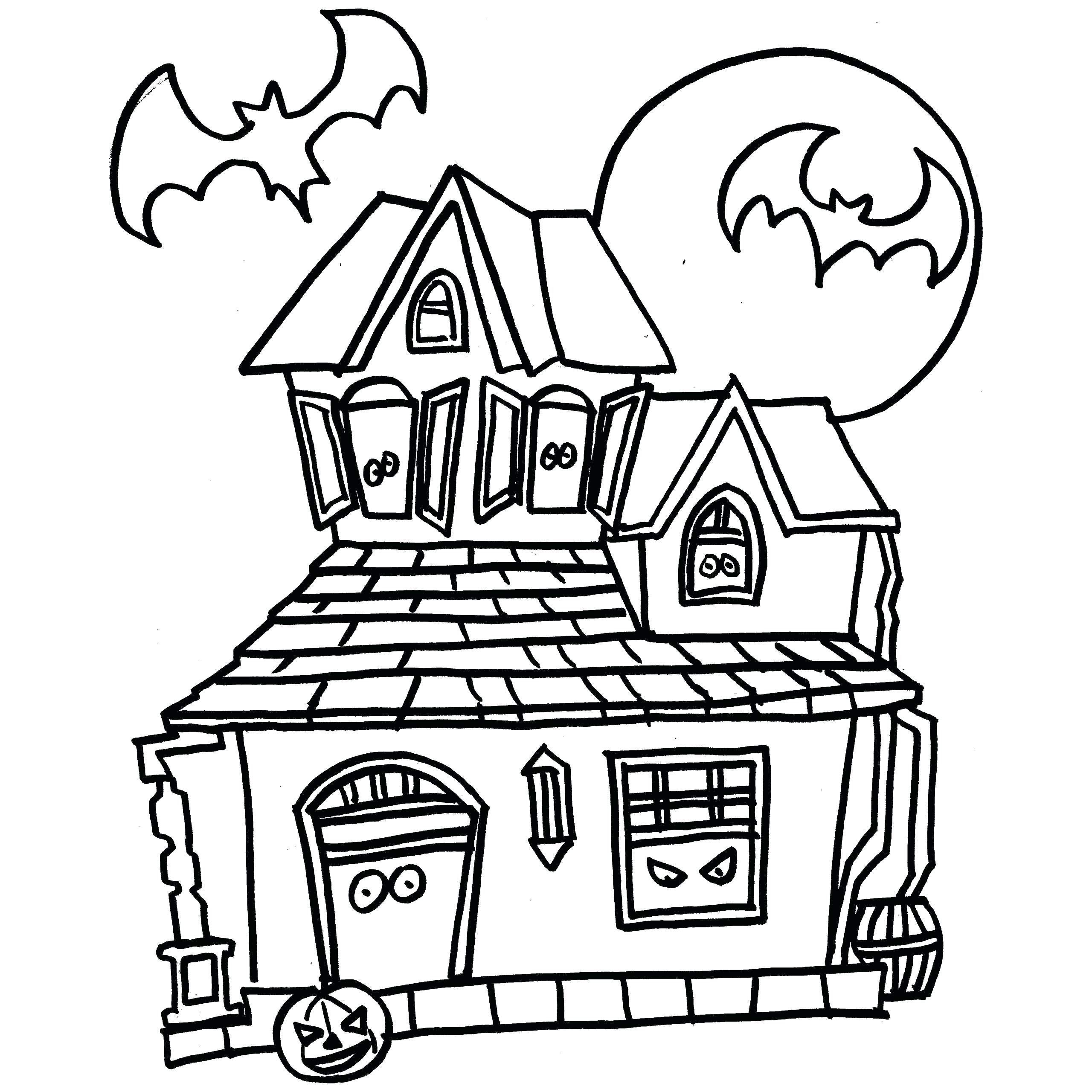 Haunted House Coloring Pages Free Halloween Haunted House Coloring Pages At Getdrawings Entitlementtrap Com House Colouring Pages Free Halloween Coloring Pages Coloring Pages Inspirational
