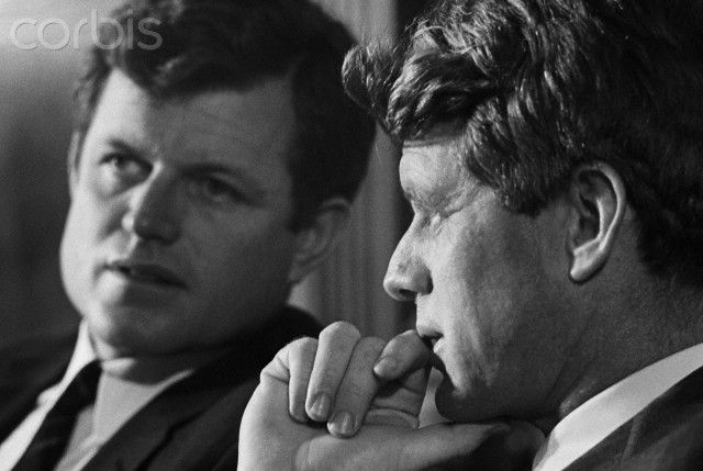 Edward and Robert Kennedy - WL005378 - Rights Managed - Stock Photo - Corbis